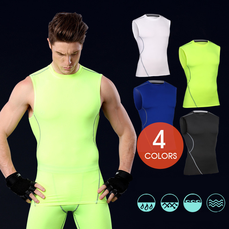 2017 Instyles Super Soft Men O-neck Sports Gym Blank Compression Shirts 23