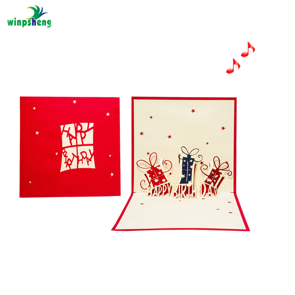 3d Cutout Greeting Cards With Envelopes Hallow Printing China Birthday Party Items