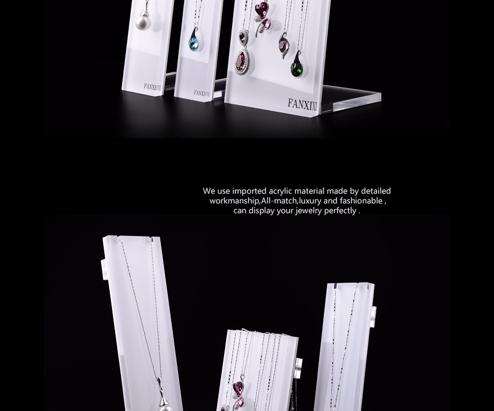 Fanxi China Supplier Fashion Organic Glass Jewelry Necklace Holder ...