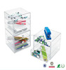new arrival stackable plastic acrylic pencil box with handle