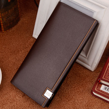 Hengsheng classic men's long wallet fashion business man clutch for birthday gift large capacity card holder money clip