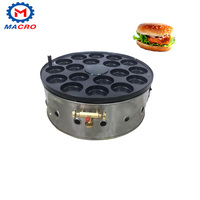 Automatic stainless steel 18 holes burger machine,burger bun making/cooking machine for burger and red bean cake