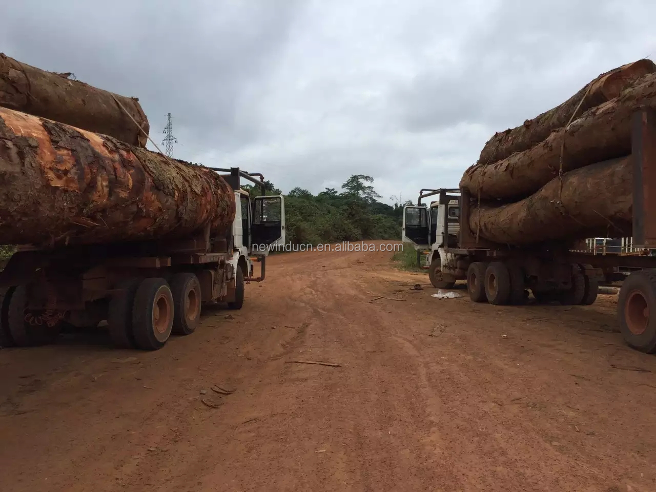 BEIBEN NG80 6X4 380HP strong engine timber trailer truck tractor truck sale in Solomon Islands