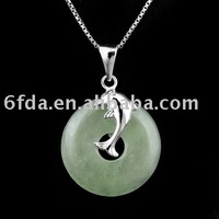fashion jewelry 925 silver jade pendant