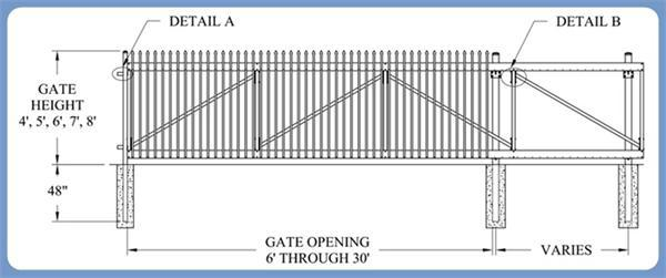 Decorative Standard Entry Gates