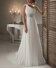Elegantní dlouhé svatební šaty z Aliexpress