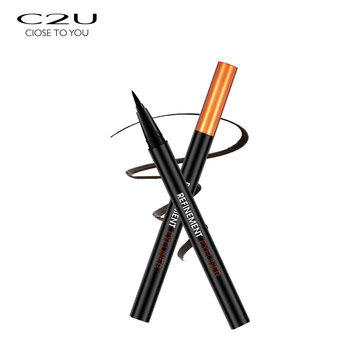 C2U factory price multi color dual function double ended liquid eyeliner