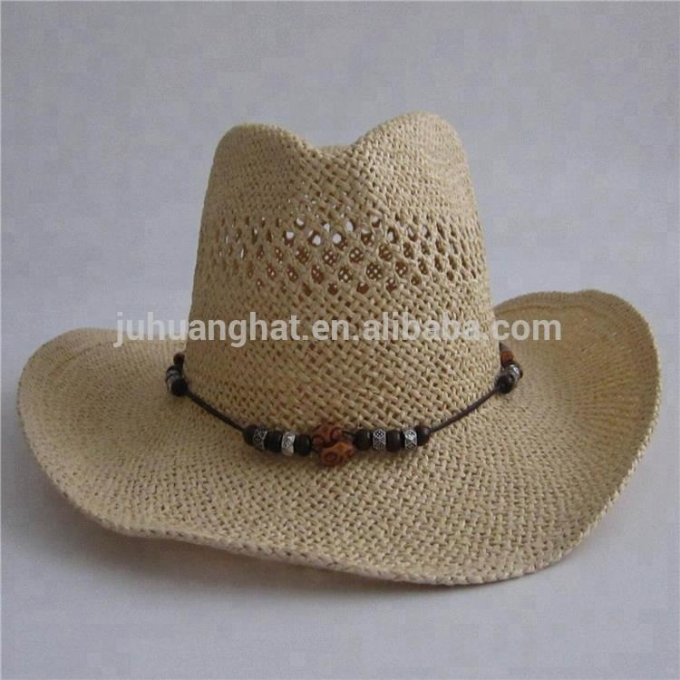 Design Your Own Twisted Paper String Handwoven Cowboy Hat With Rope ... 6521a8622c2