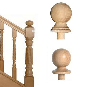 Oak Wood Stair Railing End Post Caps
