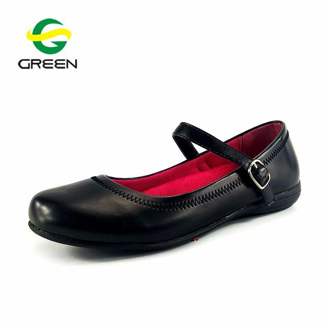 Greenshoe Children Leather School Shoes