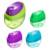 Children rectangular clear plastic wood dust bin solid colorful flip open cover press upper apex HB mini fancy pencil sharpener
