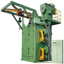 Q376 single hook/hanger shot blasting machine