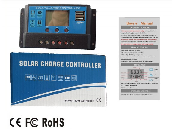 Hot sales USB/LCD charger of solar controller thailand