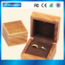 Wholesale antique wooden led light wedding rings jewelry box