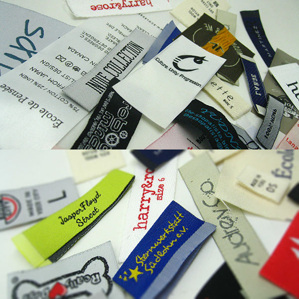 100pcs us$19 Custom cheap damask woven clothing label for woven labels clothing
