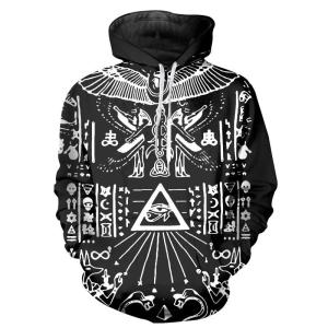 Wholesale 3D Hoodies Sweatshirts geometric pattern sets of digital printing with hood fleece