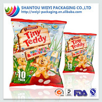 Top Quality!! Fin/lap seal packing bag for chips packaging