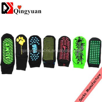aa8943b501a Custom Anti Slip Kids Jump Trampoline Socks non-slip rubber sole socks