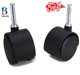 "china BL low profile 1.5""black removable nylon plastic furniture roller caster wheels for baby bed"