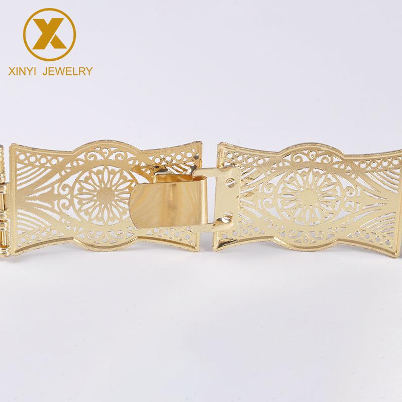 Bohemian women's national body jewelry waist chain openwork flower-shaped medieval princess belt fashion wedding Bijoux metal bu
