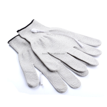 Electrode conductive unit vibrating facial massage gloves (Silver fiber ) conductive gloves