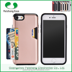newest dda8a 2ef7e with strap hole case for iphone7 Slip card slot case