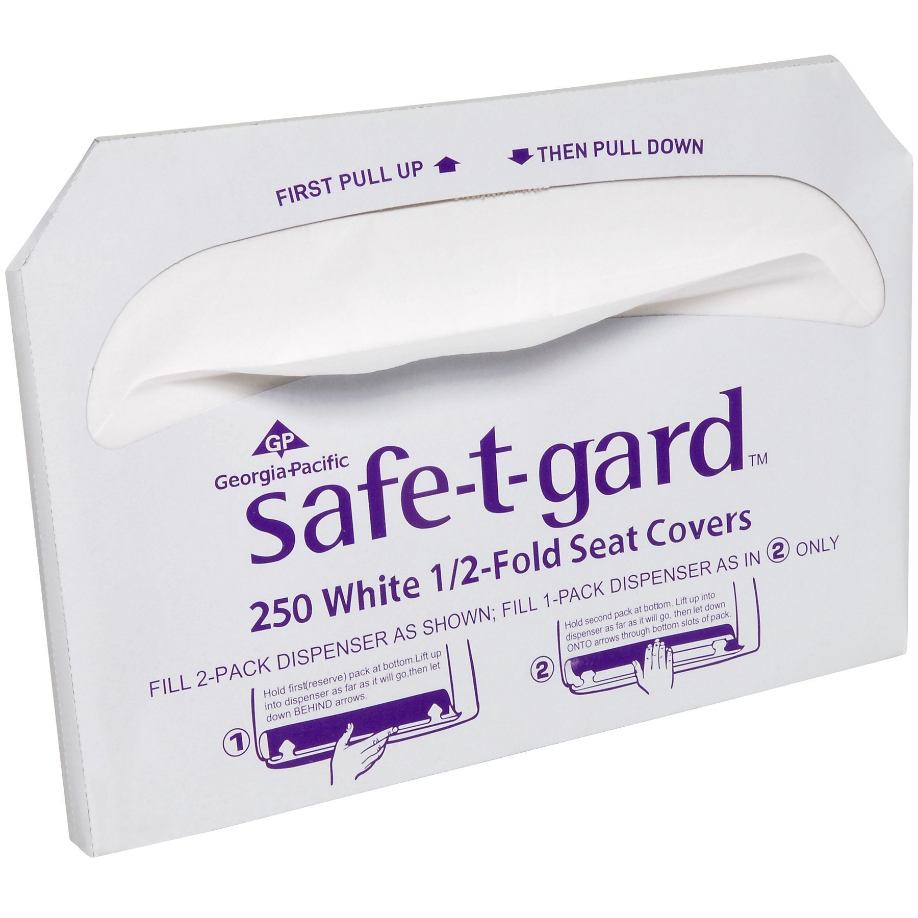 Safe-T-Gard Georgia Pacific 1/2 Fold Toilet Seat Covers, White