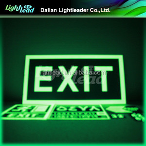 Custom glow signs safety direction marking signs