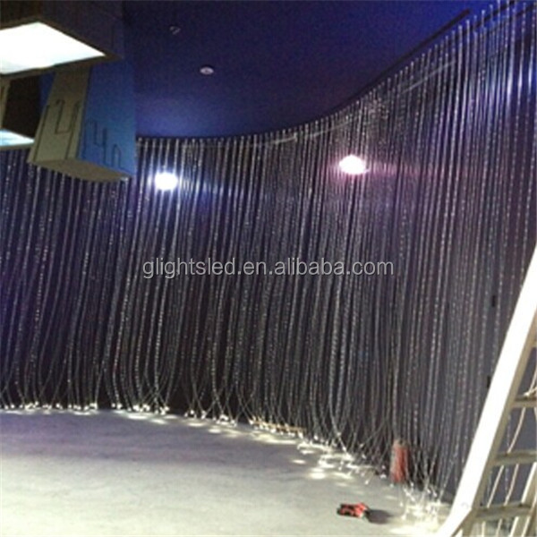 Curtains Ideas curtain lighting : Fiber Optic Waterfall Light Curtain Wall Fiber Optic Lighting ...