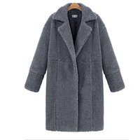 YX Fashion 2018 popular women coat Autumn and winter new women's cashmere long-sleeved solid color long coat wool coat