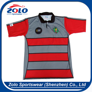 Factory direct supplier no name striped cheap plain rugby jerseys