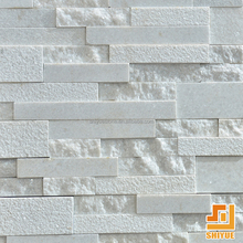 New products outdoor stacked culture stone exterior slate white quartz wall cladding stone