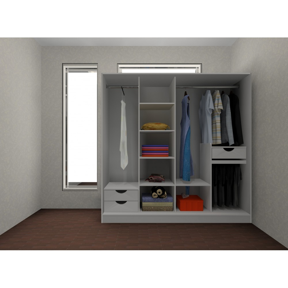 Alibaba Secure Payment Accepted White Wardrobe