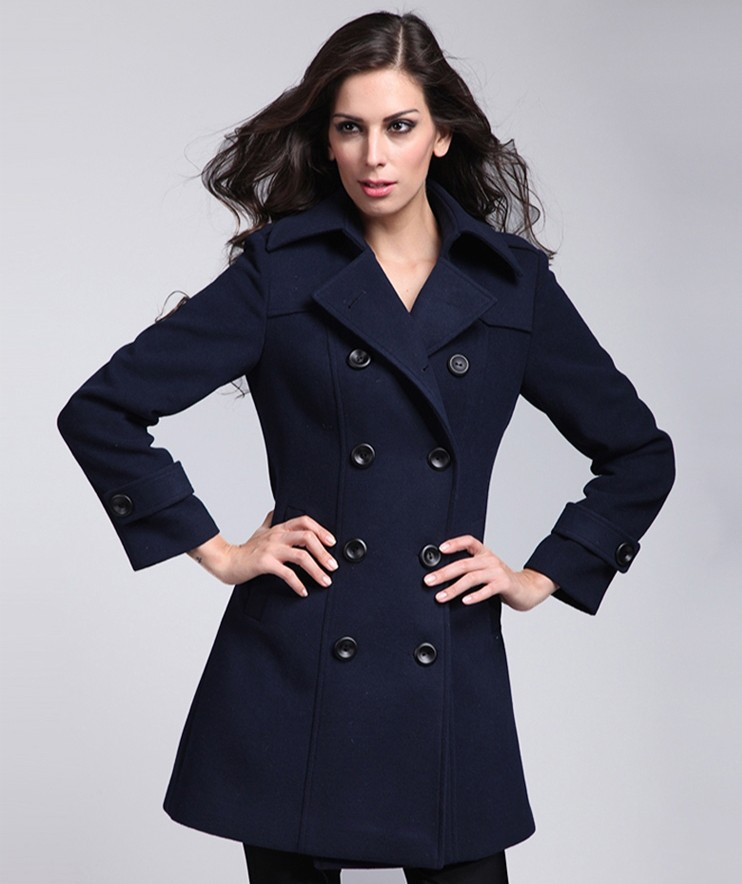 Women Winter Formal Coats,Double Breasted Wool Coats,Ladies Wool ...