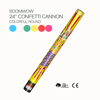 Best quality 24 inches color round flame retardant biodegradeble party and wedding confetti cannons