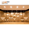 Auditorium Cinema sound absorption wooden acoustical diffuser panel