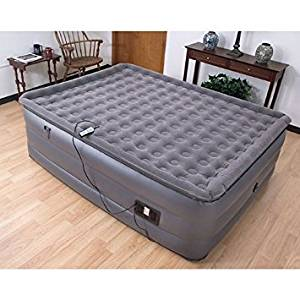 Air Mattress With Pump. This Intex Downy Classic Queen Size Blow Up Airbed With Built In Electric Pump For Two Adults Indoor Or Outdoor Use. Raised Inflatable Bed Is Best As Camping Or Guest Bed
