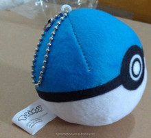 Top quality pp cotton plush pokemon go pokeball toy