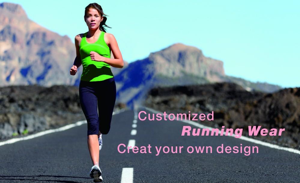 athletic running wear,line green running shirts,custom make