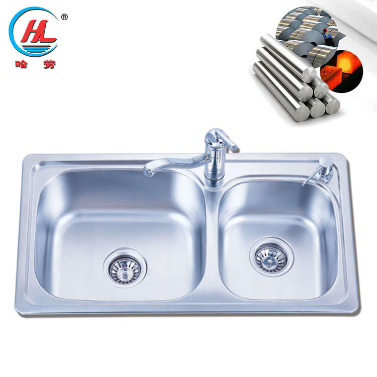Best Sale Portable Kitchen Sinks Double Bowl Stainless Steel Rv Sink