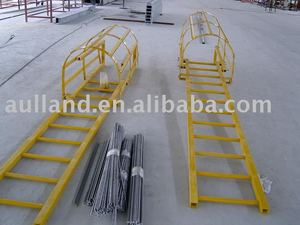 fiberglass cage ladder,GRP ladder,frp handrail ladder