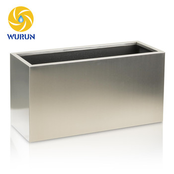 Garden Steel Metal Rectangular Modular Planter Box Planter Pots