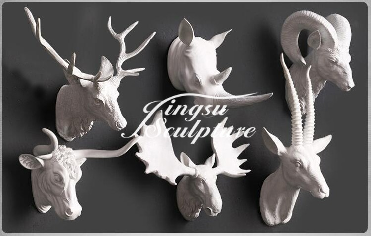 Popular Designs Wall Mounted Animal Head Sculpture Of Unicon