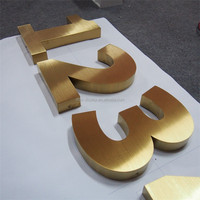 Decorative laser cutting flat cut metal letters and numbers with free sample
