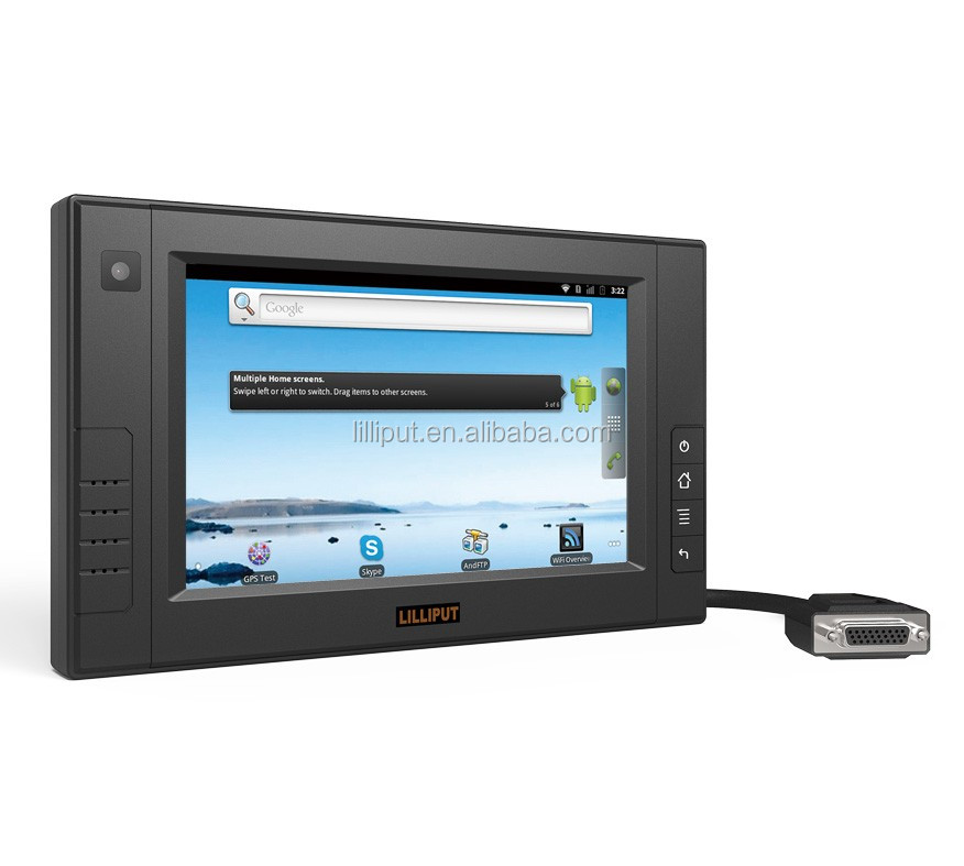 "LILLIPUT 7"" IP64 Industrial Tablet PC with Linux OS for Industrial control"