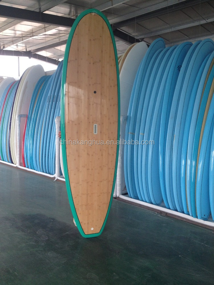 Cheap single bamboo SUP board on sale with large quantity