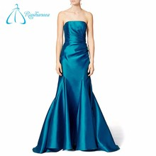 New Design Royal Blue Women Dresses Party Long Wedding Evening