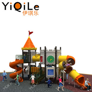 guangzhou for sale used amusement games antique playground equipment with playground slide cover