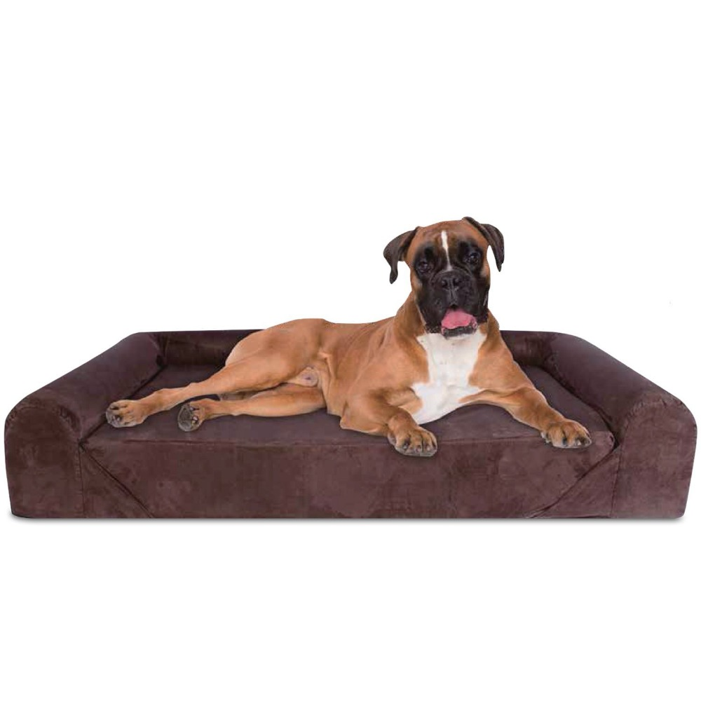 Deluxe Orthopedic Memory Foam Sofa Lounge Dog Bed for Large and Extra Large