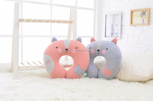 GL-UP-024 factory directly soft fabric velvet animal shape baby pillow